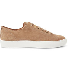 Common Projects Tournament Washed-Suede Sneakers