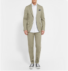 Gant Rugger Unstructured Cotton And Linen-Blend Blazer
