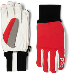 POC Leather-Panelled Padded Stretch-Shell Gloves