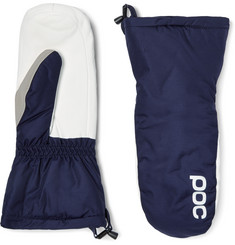 POC Leather-Panelled Padded Waterproof Mittens