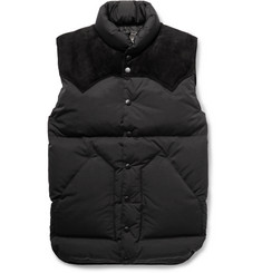 Rocky Mountain Featherbed Christy Suede-Trimmed Shell Down Gilet
