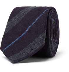 Paul Smith London Striped Wool and Cashmere-Blend Tie