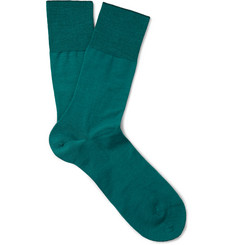 Falke Airport Merino Wool and Cotton-Blend Socks
