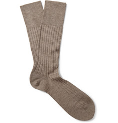 Falke No. 2 Ribbed Cashmere-Blend Socks