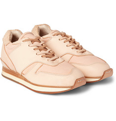Hender Scheme MIP-08 Leather and Distressed-Suede Sneakers