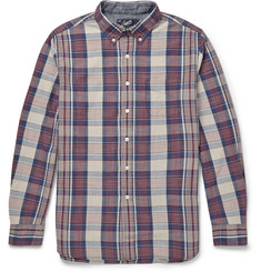 Grayers Button-Down Collar Checked Cotton Shirt