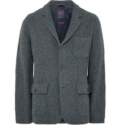 Grayers Strom-Blue Ivy Herringbone Wool-Blend Blazer