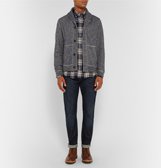 Grayers Avalon Shawl-Collar Cotton Cardigan