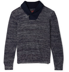 Grayers Shawl-Collar Marled-Cotton Sweater