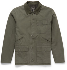 Grayers Corduroy-Trimmed Cotton Field Jacket