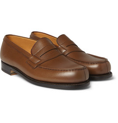 J.M. Weston 180 The Moccasin Grained-Leather Loafers