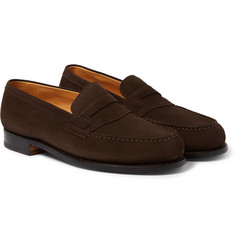 J.M. Weston The Moccasin 180 Suede Loafers