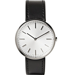 Uniform Wares M37 Stainless Steel and Leather Wristwatch