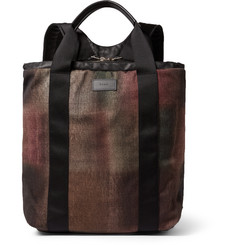 Paul Smith Shoes & Accessories Harlequin Leather-Trimmed Checked Wool-Flannel Backpack