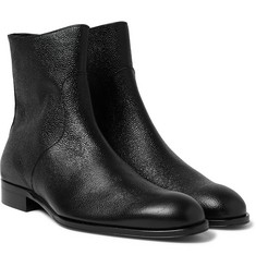 Mr. Hare - Trane Pebble-Grain Leather Boots