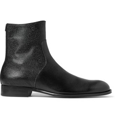 Mr. Hare Trane Pebble-Grain Leather Boots