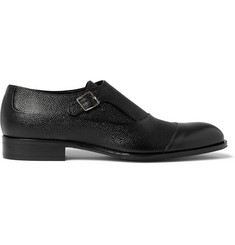 Mr. Hare Bird Pebble-Grain Leather Monk-Strap Shoes