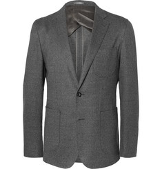 Hardy Amies Grey Slim-Fit Stretch-Wool Suit Jacket