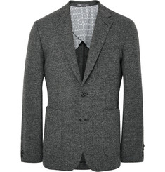 Hardy Amies Charcoal Heddon Slim-Fit Wool-Hopsack Blazer