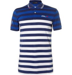 RLX Ralph Lauren - Striped Stretch-Piqué Golf Polo Shirt