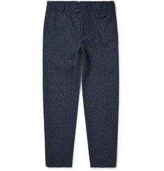 Oliver Spencer Fishtail Slim-Fit Flecked-Wool Trousers