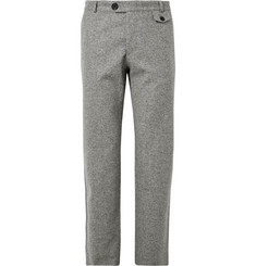 Oliver Spencer Fishtail Mélange Wool Trousers