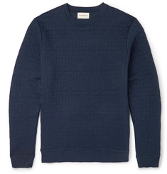Oliver Spencer Lima Stitched Cotton-Blend Jersey Sweatshirt