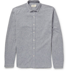 Oliver Spencer Clerkenwell Slim-Fit Herringbone Cotton-Flannel Shirt
