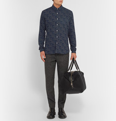 Oliver Spencer New York Printed Cotton-Flannel Shirt