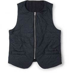 Oliver Spencer Quilted Shell Gilet with Cotton and Wool-Blend Reverse