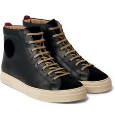 Oliver Spencer Ambleside Leather High-Top Sneakers