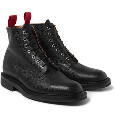Oliver Spencer Grained-Leather Boots