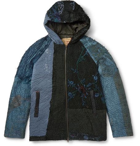 Patchwork Sik Hooded Jacket