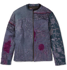 By Walid Patchwork Bomber Jacket