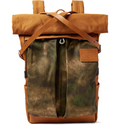 Atelier de L'Armée Leather-Trimmed Cotton-Canvas Backpack