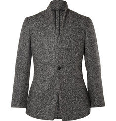 Kilgour Grey Stand Shawl Slim-Fit Alpaca-Blend Blazer