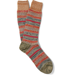 Mr. Gray Striped Mélange Knitted Socks