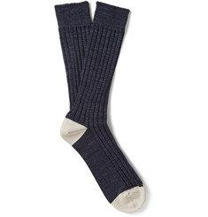 Mr. Gray Mélange Cotton-Blend Socks