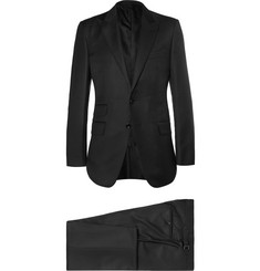 TOM FORD Black Slim-Fit Peak Lapel Wool Suit
