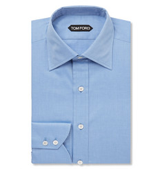 Tom Ford Blue Slim-Fit Cotton-Twill Shirt