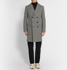 Tom Ford Slim-Fit Double-Breasted Houndstooth Wool Coat
