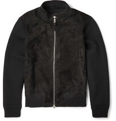 Tom Ford Icon Suede-Panelled Wool Jacket