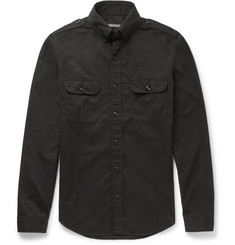 Tom Ford Cotton-Poplin Military Shirt