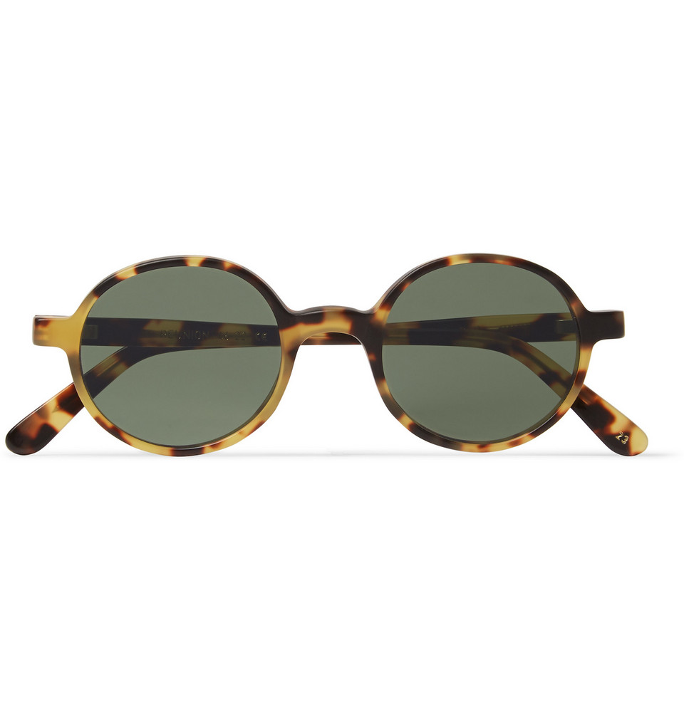 Reunion Round Frame Tortoiseshell Acetate Sunglasses Brown