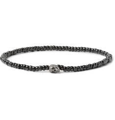 Luis Morais Gunmetal and Glass Bead Bracelet