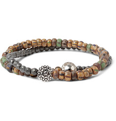 Luis Morais White Gold, Diamond and Pyrite Bead Bracelet