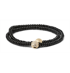 Luis Morais - Glass Bead, Gold and Diamond Wrap Bracelet