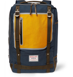 Master-Piece - Area Leather-Trimmed Canvas Backpack