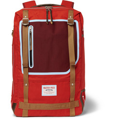 Master-Piece - Area Canvas Leather-Trimmed Backpack