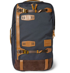 Master-Piece Potential Convertible Leather-Trimmed Canvas Backpack